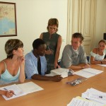 French Courses in Montpellier - Students in class